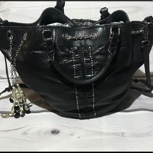 Rebecca Minkoff Black Stud and Charm Purse Bag